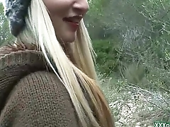 Public Pickups - Slutty blonde Czech indulge is paid cash from some crazy public sex 05