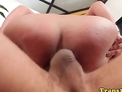 Bigbutt lactating latin tgirl gets assrailed