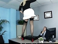 Busty chick is desperate for a raise coupled with fucks her boss coupled with earn it 13