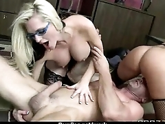 Busty chick is desperate for a raise and fucks say no to boss and earn it 3