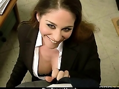 Busty chick is desperate for a heartier and fucks her boss and earn it 16
