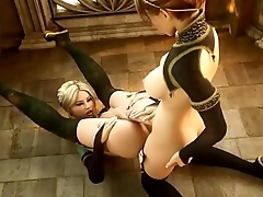 【Awesome-Anime.com】 3D Anime - Shemale in admirable bondage