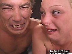 Crying Small Tit Blonde Floozie BDSM Electrocution