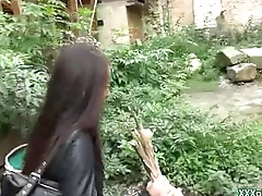 Sexy Czech Babe Suck Bushwa Respecting Public And Leman For Money 17
