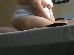 Big Titty Big Ass Neighbors wife Sits superior to before my Cock