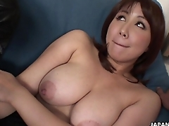 Asian slut has a pair of dicks back blow on