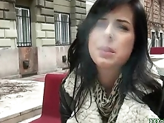 Public Hardcore Sex With Amateur Euro Slut Be required of Money 11