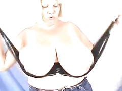 1822218 bbw granny with huge boobs posing