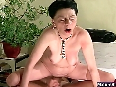 Grey Groaning Granny Gets Fucked