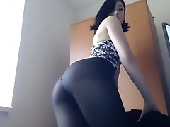 Oversexed Teen Slut Smokes &amp_ Stockings on Cam - GirlTeenCams.com