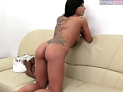 Russian babe casting photoshoot