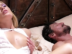 Blonde Babe and her Sleepwalker Step Padre - Abby Cross and Tommy Pistol