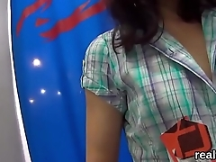 Flawless czech girl gets teased concerning the mall and pounded concerning pov