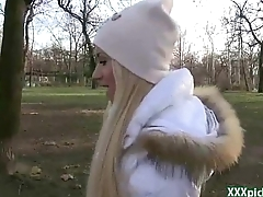 Public Pickups - Euro Teen Girl Suck Cock For Ripping In Genuine Public 13