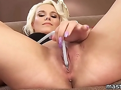 Titillating czech kitten stretches her slim twat just about the bizarre