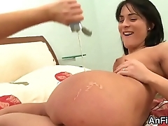 Foxy lesbo sex kittens are gaping and fisting anal holes