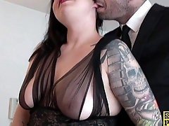 English slut gets chocked