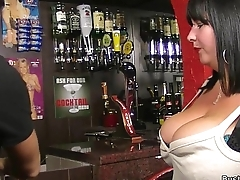 Busty fat ass working woman rides his dick