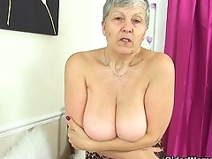 British grannies Savana and Zadi work their fuckable body