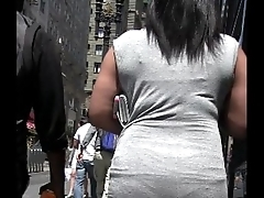 Candid Black Unspecified Tight Dress Street Creepshot