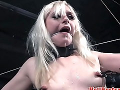 TT sub drools to the fullest extent a finally master punishes her clit
