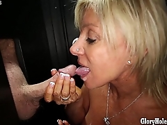 Gloryhole Secrets Mature blonde shows off her time eon of skill