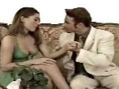 hot babe seduced &amp_ fucked on sofa - Do u know her name!!