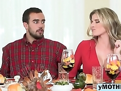 Babe MILF Cory Chase Gets Her Pussy Slammed On A Thanksgiving-big-1080