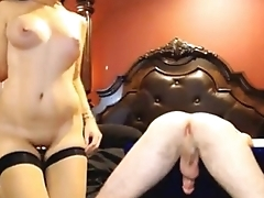 www.pornthey.com - hot babe cock teasing and ass licking