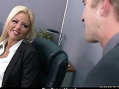 Office assistant shows her boss her flexibility 14
