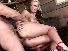 Busty Peaches Hooks Up With The Hunk Bartender